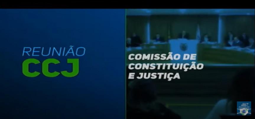 Reunião da Comissão de Constituição e Justiça (CCJ) da Assembleia Legislativa desta quarta-feira (31).