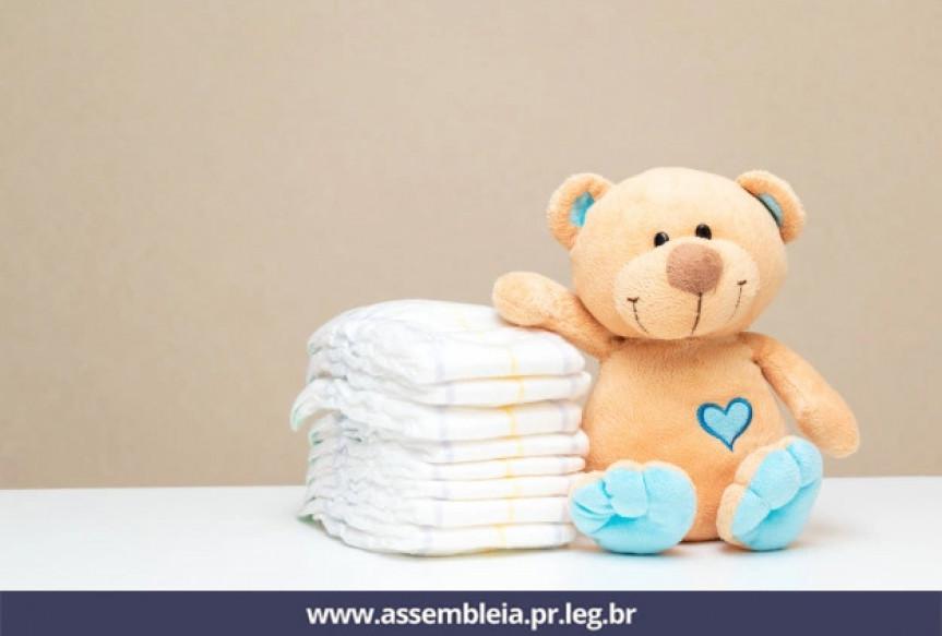Projeto de lei protocolado na Assembleia Legislativa do Paraná prevê a distribuição gratuita de fraldas descartáveis para crianças, idosos e pessoas com deficiências.