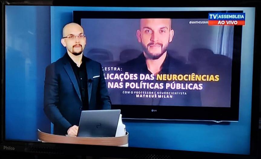 O professor e neurocientista, Matheus Milan, encerrou o ciclo de palestras promovido pela Escola do Legislativo da Assembleia em parceria com a Esmafe.
