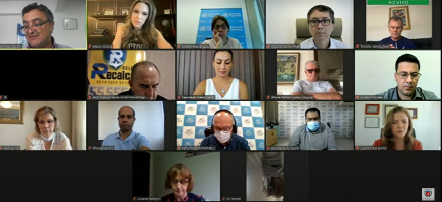 Reunião da Frente Parlamentar do Coronavírus debateu a vacinação no Brasil.